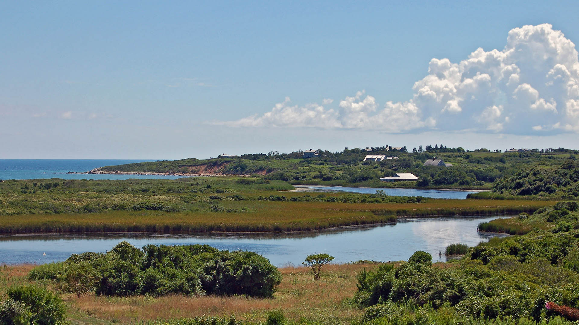 Squibnocket Pond as seen from Blacksmith Valley, Chilmark, Martha's Vineyard